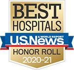 Best Hospitals - US New & World Report Honor Roll 2019-2020 badge